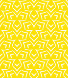 Geometric pattern. Simple elegant linear vector pattern in 1920s style. Modern art deco background with lines and geometric ornament in bright yellow color Stock Images