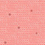 Geometric pattern with small hand drawn squares Royalty Free Stock Photo