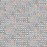Geometric pattern with small hand drawn squares. Vector geometric pattern with small hand drawn squares and randomly placed hearts and crosses can be used for Stock Photography