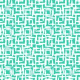 Geometric pattern with small hand painted squares. Vector geometric pattern with small hand painted squares placed in rows in bright aqua green white can be used Stock Photography