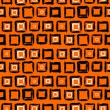 Geometric pattern with small hand painted squares Stock Image