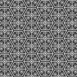 Geometric pattern with snow Royalty Free Stock Photography