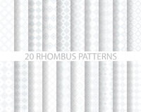 20 geometric pattern. 20 soft gray rhombus patterns, Pattern Swatches, vector, Endless texture can be used for wallpaper, pattern fills, web page,background Royalty Free Stock Photography