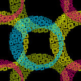Geometric pattern from square Stock Photo