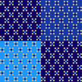 Geometric pattern with square in blue color royalty free stock photography