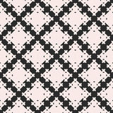 Geometric pattern with square figures, crosses. Vector seamless texture, abstract geometric pattern with square figures, crosses. Monochrome illustration of Royalty Free Stock Image