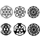 Geometric pattern star set pentagram astrology symmetry Stock Images