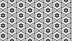 Geometric pattern with stars. Vector seamless pattern.  You can use it for packaging design, textile design and scrapbooking Stock Images
