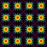 The geometric pattern of stars. Royalty Free Stock Photo