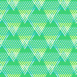 Geometric pattern with striped triangles Royalty Free Stock Photography