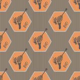 Geometric pattern on the subject of bees and honey Royalty Free Stock Photography