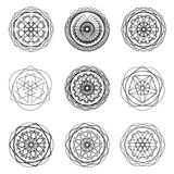 Geometric pattern icon star astrology pentagram symbol Stock Photography