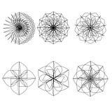 Geometric pattern symmetry set Royalty Free Stock Photo