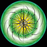 Geometric pattern symmetry Stock Photo