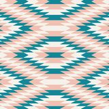 Geometric Pattern teal, pink, white - Vector pattern Royalty Free Stock Photos