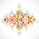Geometric pattern Thai art style template, vector & illustration Royalty Free Stock Photo