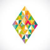 Geometric pattern Thai contemporary art style template, vector & illustration Royalty Free Stock Photos