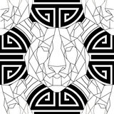 Geometric pattern tiger head trendy line design Stock Photography