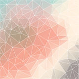 Geometric pattern with triangles. In pastel tints Stock Illustration