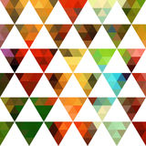 Geometric pattern of triangles shapes. Colorful mosaic backdrop. Royalty Free Stock Images