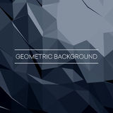 Geometric pattern, triangles vector background in black and gray tones. Vector illustration Stock Photography