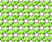 Geometric pattern of ultra violet and green color isolated on white background - Vector illustration, EPS10. The pattern is similar to flower blooming among Royalty Free Stock Images
