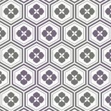 Geometric pattern vector. pattern is a Japanese pattern repeating with abstract Sakura flower and linear hexagon shape. Pattern is on swatches panel Stock Image