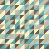 Geometric pattern in vintage colors stock illustration