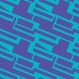 Geometric pattern on the blue background royalty free illustration