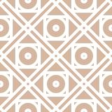 Geometric pattern for wallpapers. Beige seamless background. With white elements. Vector illustration Stock Photography