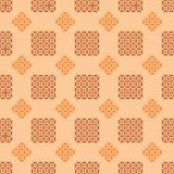 Geometric pattern in warm colours. Seamless geometric pattern in warm colours stock illustration
