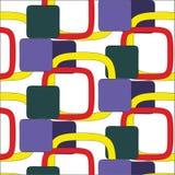 Geometric pattern on a white background Stock Image