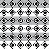 Geometric pattern with white and black rhomboid shapes Royalty Free Stock Image