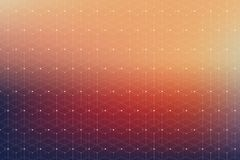 Free Geometric Pattern With Connected Line And Dots. Stock Image - 111727031