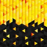 Geometric pattern from yellow orange triangle Stock Image