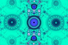Geometric patterns can illustrate daydreaming imagination psychedelic space dreams and magic universe. Beautiful fractal Stock Photography