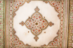 Geometric patterns on the ceiling of an old building in Indian style. Jaipur royalty free stock photos