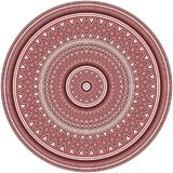 Geometric patterns in concentric circles, American Indians ethnic style. Brown and brick red colors. Pattern brushes are included stock illustration