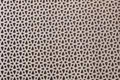Geometric patterns, Islamic-style ornament covered with walnut veneer stock image