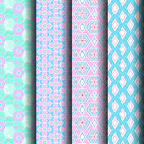 Geometric patterns pink and blue Stock Image