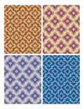 Geometric patterns in retro nostalgic colors. Set of seamless patterns in vintage style. Royalty Free Stock Images
