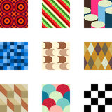 Geometric Patterns Set 2 royalty free illustration