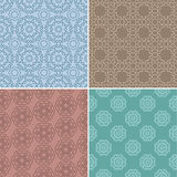 Geometric patterns set Royalty Free Stock Photos