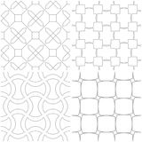 Geometric patterns. Set of light gray and white seamless backgrounds. Vector illustration Royalty Free Stock Photography