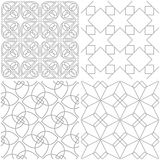 Geometric patterns. Set of light gray and white seamless backgrounds. Vector illustration vector illustration