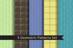 Geometric Patterns Set Stock Photo
