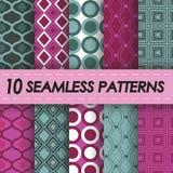 Geometric patterns. Set of seamless geometric patterns royalty free illustration