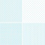 Geometric patterns set. Set of seamless geometrical decorative patterns Royalty Free Stock Image