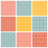 Geometric patterns  Set of vector seamless Stock Photos