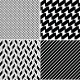 Geometric patterns set. A set of vector seamless retro patterns Stock Images